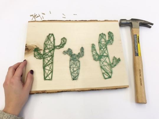 Wood & String Art